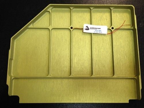 Anodized aluminium part